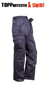 Pantaloni de lucru talie bleumarin cu buzunare fermoar