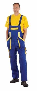 Salopete de lucru BiColor Albastru-galben