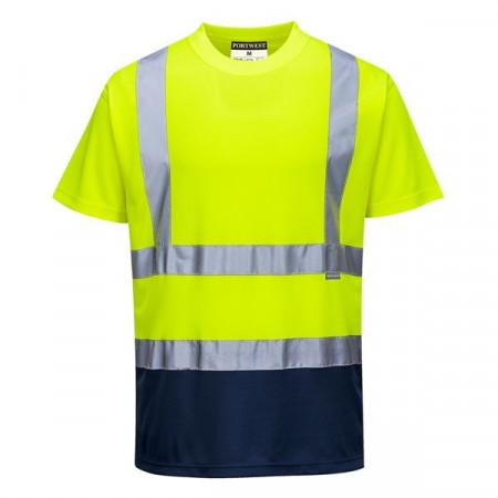 Tricou drumari fluorescent dungi reflectorizante protectie UV
