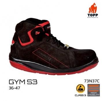Bocanci protectie GYM S3 SRC negru/rosu moderni sport