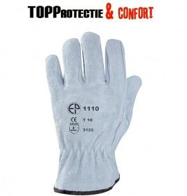 Manusi de lucru din piele spalt bovina incheietura elastica 1110