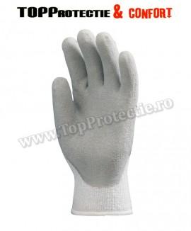 Manusi de protectie bumbac/acril/poliester imersate în latex gri