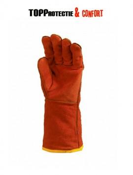 Manusi de protectie sudura si temperaturi inalte rosii Calitate Europeana 2631