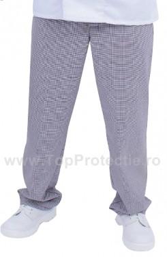 Pantaloni bucatar bumbac pepit
