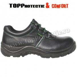 Pantofi de protectie S2,piele bovina,hidrofobizată, permeabilă la aburi