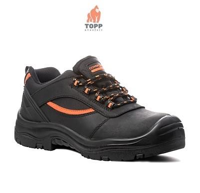 Pantofi de protectie S3 din piele integrala cu dungi portocalii Pearl