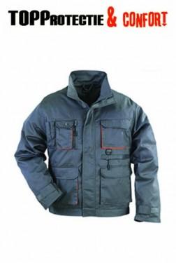 Jacheta de lucru PADDOCK rezistenta la uzura, gri-portocaliu