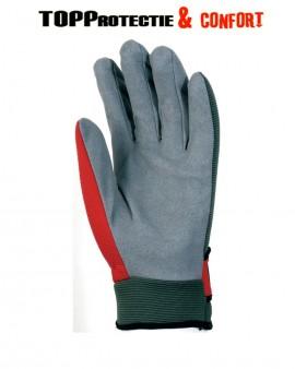 Manusi pentru manipulare cu  palmă din poliamidă cu microfibre, gri, sintetică, aerisită