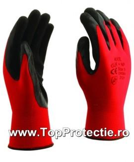 Manusi protectie mecanici dexteritate rosu nitril GLK