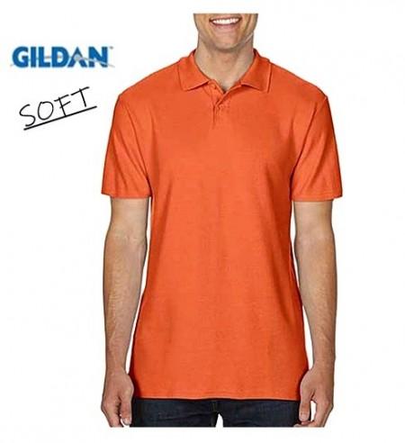 Model nou Tricou polo cu guler de vara SOFT portocaliu