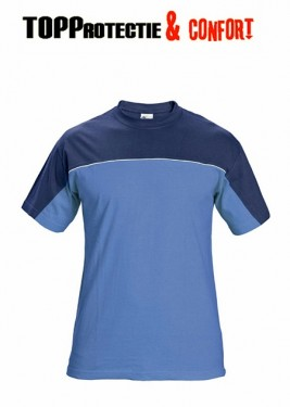 Tricou bicolor Stanmore confortabil 100% bumbac albastru royal