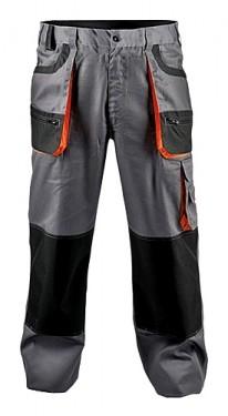 Costum pantaloni talie + jacheta gri portocaliu PROMO