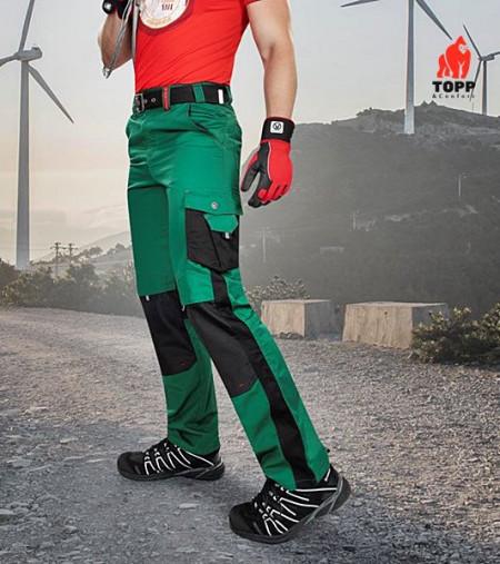Pantaloni de lucru verde gradina moderni