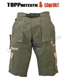 Pantaloni scurti verde vanatoresc, 100% bumbac SNIPER