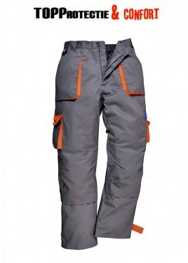 Pantaloni talie Texo Contrast, de calitate superioara Gri/Orange