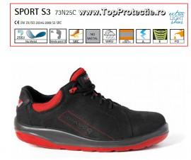 Pantofi protectie cu bombeu si lamela S3 Sport piele Nubuck