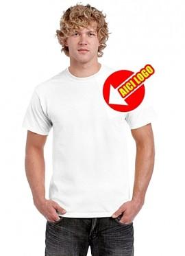 Tricou alb Gildan GI5000 bumbac de calitate