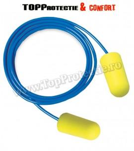 Antifoane interne din poliuretan,galbene,cu snur,3M