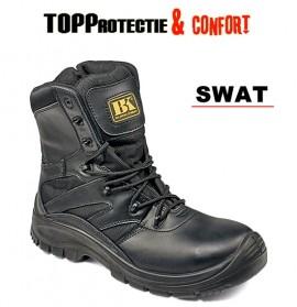 Bocanci SWAT fara protectie din piele bovina BK