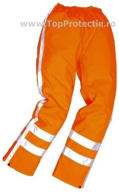 Pantaloni de ploaie cu dungi reflectorizante drumari Traffic R480