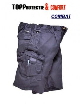 Pantaloni scurti salopeta cu buzunare multe Bleumarin Combat