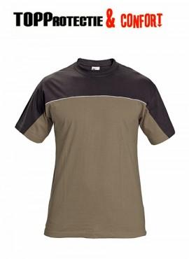 Tricou bicolor Stanmore confortabil 100% bumbac maro