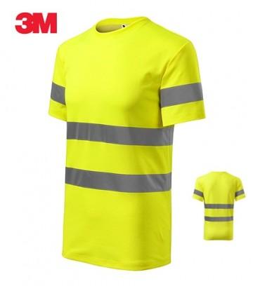 Tricou bumbac-poliester 55/45 galben reflectorizant