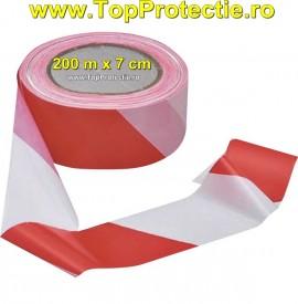 Benzi delimitare 200m X  7cm rosu/alb semnalizare marcare 70011