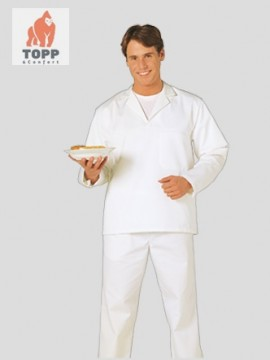 Bluza alba cu maneca lunga brutar, cofetar