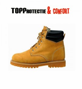 Bocanci de protectie Honey Winter bej Farmer fara protectie