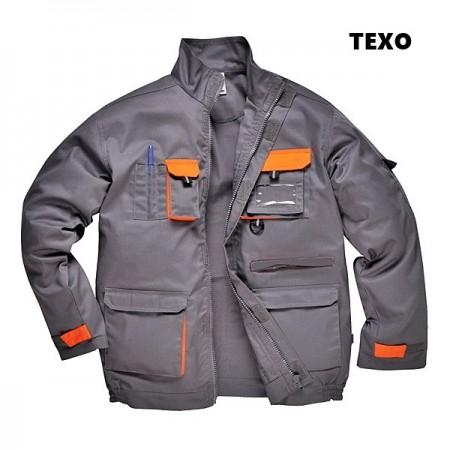 Jacheta lucru gri portocaliu tercot rezistent Design-TX