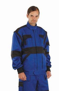 Jacheta lucru salopeta BiColor Albastru Royal bumbac