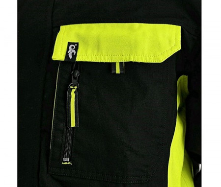 Jacheta lucru perfomanta Contrast negru/portocaliu