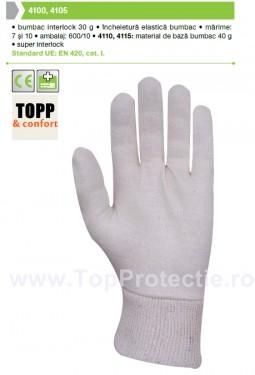 Manusi de protectie bumbac interlock 30 g 4100 4105 Top Calitate