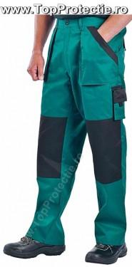 Pantaloni de lucru bumbac talie BiColor albastru sau verde