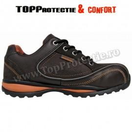 Pantofi de protectie dame S1P din piele nubuc, maro