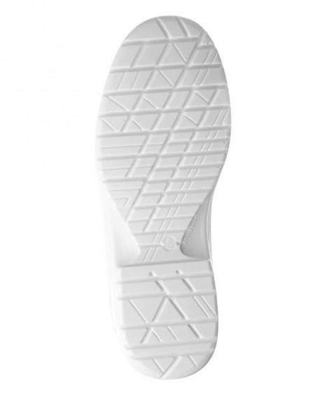 Pantofi de protectie S2 fara siret,albi, rezistenti la lichide