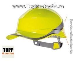 Casca de protectie industriala cu banda reflectorizanta Galben fluorescent Diamond