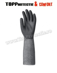 Manusi de protectie din material multifir,imersate in poliuretan negru