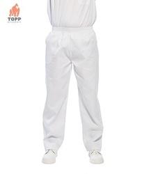 Pantaloni albi de lucru pentru morarit sau domeniul alimentar