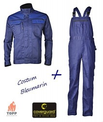 Costum salopeta cu pieptar, economic Coverguard