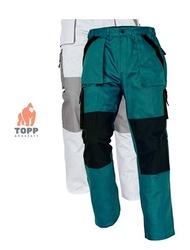 Costum salopeta jacheta + pantalon BiColor verde din bumbac