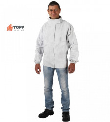 Jacheta sudori din piele spalt bovina gri