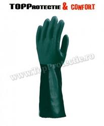 Manusi de protectie imersate dublu,rezistente la acizi,uleiuri,substante chimice