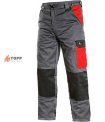 Pantalon lucru talie subtiri gri cu negru