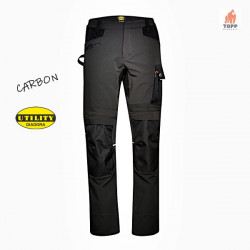 Pantaloni flexibili Diadora Work & Outdoor Carbon negru