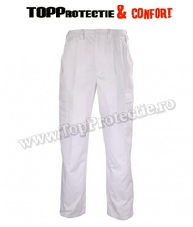 Pantaloni talie albi FACTORY, clasic,confortabili