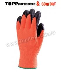 Manusi de protectie,impotriva frigului,rezistenti la abraziune,portocaliu fluo