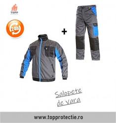 Combinatie costum lucru pantaloni si jacheta