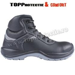 Bocanci protectie S3 din piele bovina neagra rezistenta ORION Standard CE